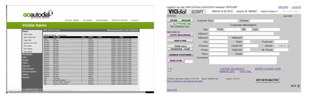 Vicidial Software Call Center open source